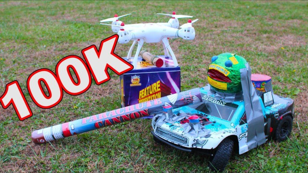 Drone vs fireworks