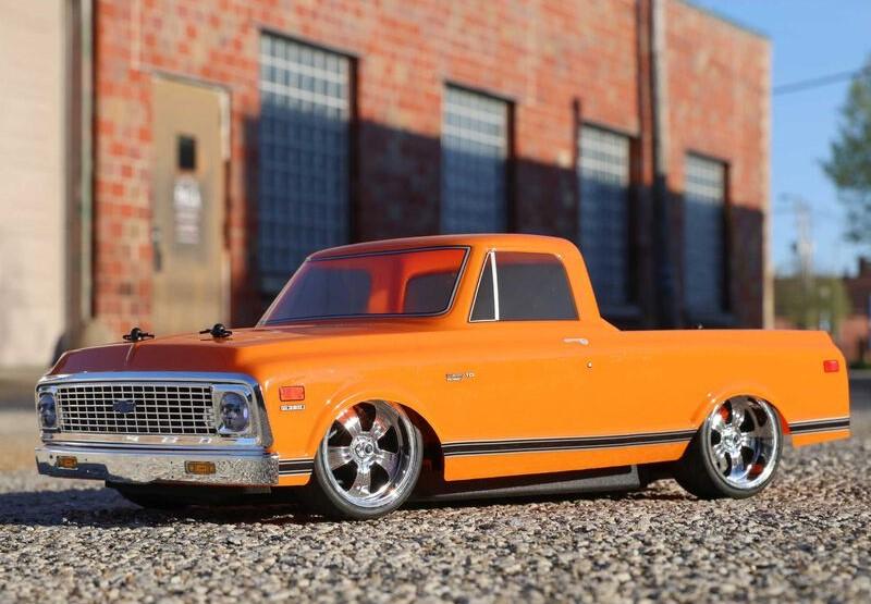 1/10 1972 Chevy C10 Pickup Truck V100 AWD RTR orange