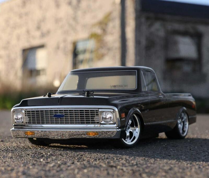 1/10 1972 Chevy C10 Pickup Truck V100 AWD RTR black