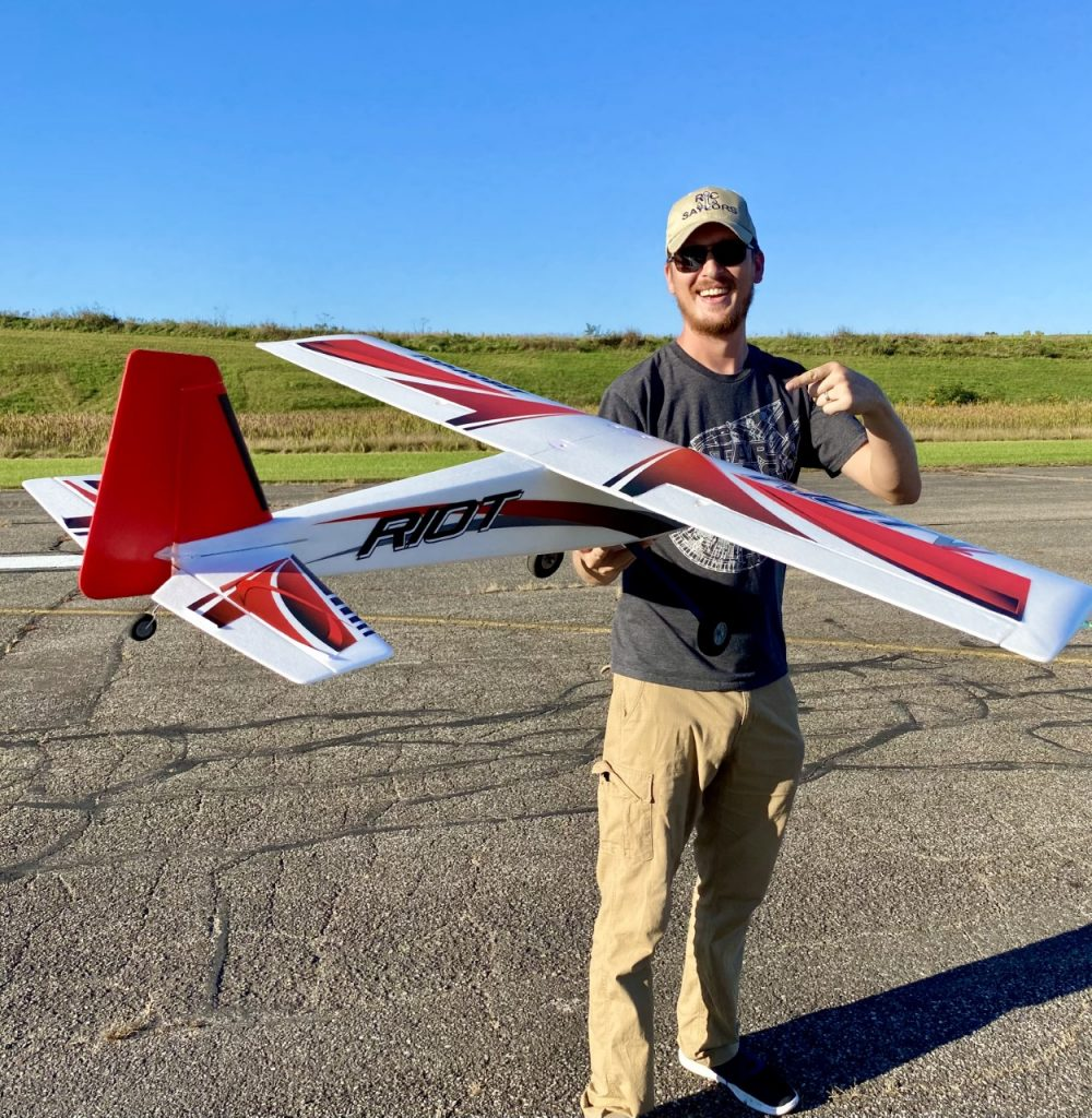Nate from TheRcSaylors with TopRC Hobby Plane
