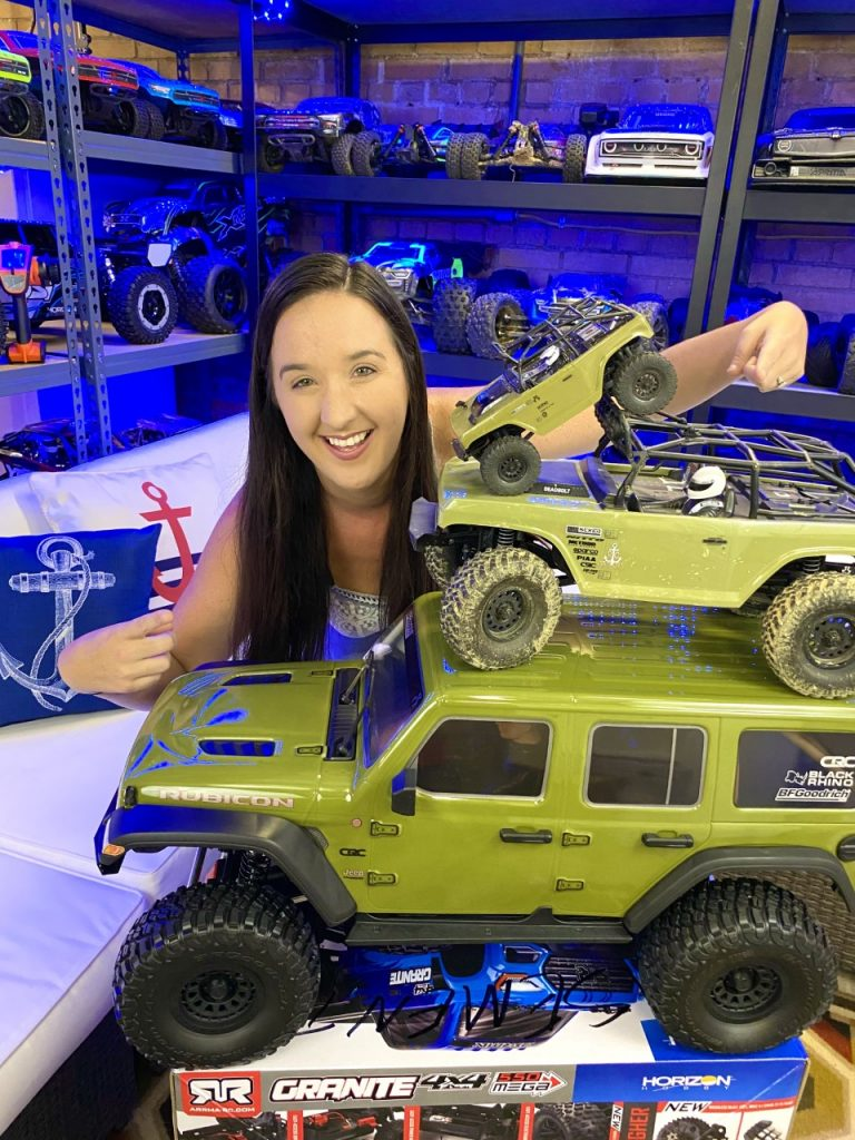 Abby with the Axial SCX6